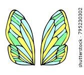 butterfly wings vector... | Shutterstock .eps vector #795230302