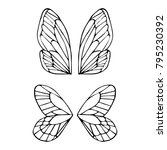 butterfly wings vector... | Shutterstock .eps vector #795230392