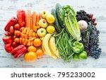 a tabletop arrangement of a... | Shutterstock . vector #795233002