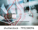 general data protection... | Shutterstock . vector #795238096
