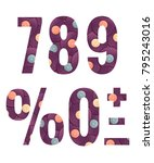 retro vinyl records alphabet... | Shutterstock .eps vector #795243016