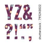 retro vinyl records alphabet... | Shutterstock .eps vector #795243022