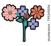 beauty floral arrangement...   Shutterstock .eps vector #795245056