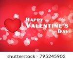 vector happy valentines day red ... | Shutterstock .eps vector #795245902