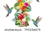 Tropical Vertical Border With...