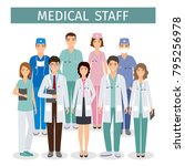 group of medical people... | Shutterstock .eps vector #795256978