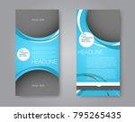 skinny flyer or leaflet design. ... | Shutterstock .eps vector #795265435