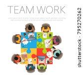 concepts for business teamwork... | Shutterstock .eps vector #795270262