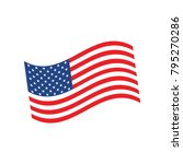 usa flag. official colors and... | Shutterstock .eps vector #795270286