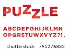 excellent and business alphabet ... | Shutterstock .eps vector #795276832