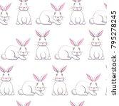 easter seamless vector pattern... | Shutterstock .eps vector #795278245