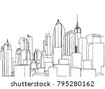 city buildings vector...   Shutterstock .eps vector #795280162