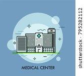 facade of modern gray building... | Shutterstock .eps vector #795282112