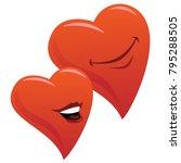 cute smiling romantic hearts... | Shutterstock .eps vector #795288505