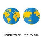 world map  western and eastern...   Shutterstock .eps vector #795297586