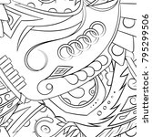 seamless mehndi vector pattern. ...