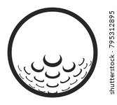 golf ball icon on a white... | Shutterstock .eps vector #795312895