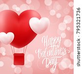happy valentines day greeting... | Shutterstock .eps vector #795321736
