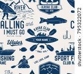 canoe  kayak and fishing club... | Shutterstock .eps vector #795322072