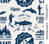 canoe  kayak and fishing club... | Shutterstock .eps vector #795322075