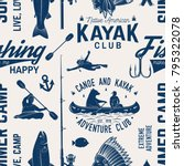 canoe  kayak and fishing club... | Shutterstock .eps vector #795322078