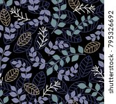 floral embroidery seamless... | Shutterstock .eps vector #795326692
