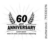 60 years anniversary logo.... | Shutterstock .eps vector #795330196