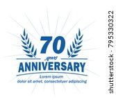 70 years anniversary logo.... | Shutterstock .eps vector #795330322