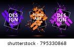 vector framework for text.... | Shutterstock .eps vector #795330868