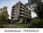 abandoned multi story building. ... | Shutterstock . vector #795334315