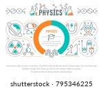line illustration of physics.... | Shutterstock .eps vector #795346225