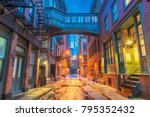 alley in the tribeca... | Shutterstock . vector #795352432