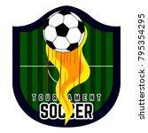 soccer emblem on a white... | Shutterstock .eps vector #795354295