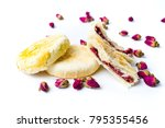 rose pastry with natural...   Shutterstock . vector #795355456