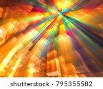 digital city under futuristic... | Shutterstock . vector #795355582