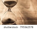 hourglass as time passing...   Shutterstock . vector #795362578