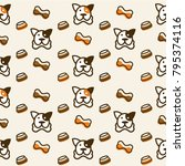dog cute seamless pattern
