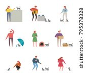 friendly people character who... | Shutterstock .eps vector #795378328
