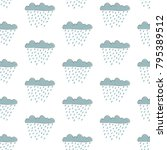 seamless pattern with cute hand ... | Shutterstock .eps vector #795389512