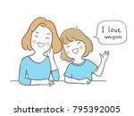 vector illustration character... | Shutterstock .eps vector #795392005