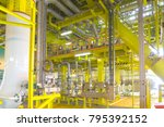 oil and gas industry. view of...   Shutterstock . vector #795392152
