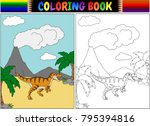 coloring book with... | Shutterstock .eps vector #795394816