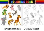 Coloring Book With Wild Animal...