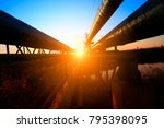 oil pipeline  industrial... | Shutterstock . vector #795398095
