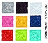 vector set of cartoon color... | Shutterstock .eps vector #795399682