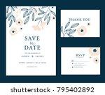 wedding card invitation  | Shutterstock .eps vector #795402892