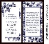 romantic invitation. wedding ... | Shutterstock .eps vector #795408616