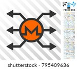 monero mixer cashout icon with... | Shutterstock .eps vector #795409636