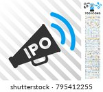 ipo news megaphone icon with 7...   Shutterstock .eps vector #795412255