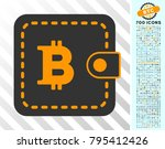 bitcoin wallet icon with 700... | Shutterstock .eps vector #795412426